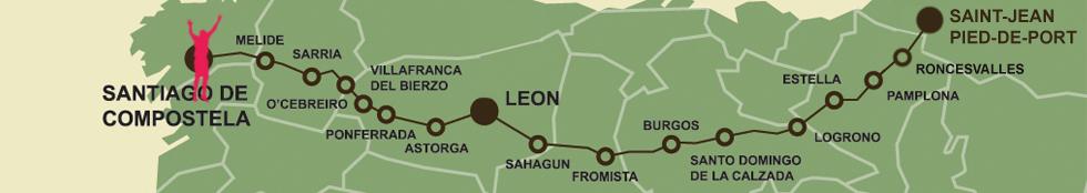 Peter jess 39 camino de santiago challenge supporting the - St jean pied de port to santiago distance ...